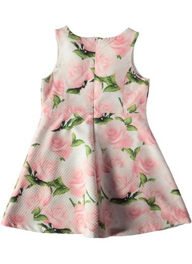 Gül Desenli Elbise-Asymmetry